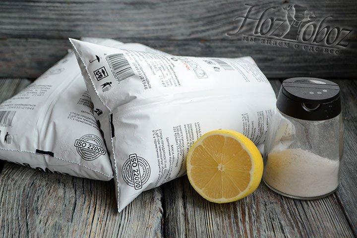 Подготавливаем ингредиенты для приготовления сыра панир.