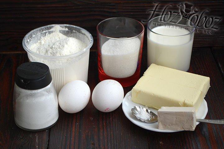 Приготовим все составляющие сахарного пирога.