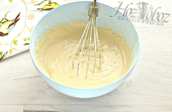 Готовое тесто для вафель на кефире.